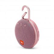 JBL Clip 3 - водоустойчив безжичен портативен спийкър (с карабинер) с микрофон за мобилни устройства (розов)