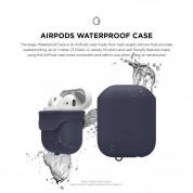 Elago Airpods Waterproof Case - водоустойчив силиконов калъф за Apple Airpods (тъмносин) 1
