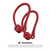 Elago AirPods EarHooks - силиконови кукички за Apple Airpods и Apple Airpods 2 (червен) 1