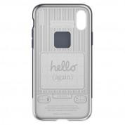 Spigen Classic C1 Case - хибриден кейс с висока степен на защита за iPhone XS, iPhone X (сив) 3