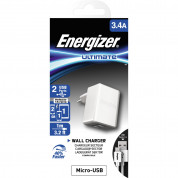 Energizer 3.4A Wall Charger with microUSB Cable 1