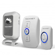 TeckNet WA668 Two Mains Plug-In Wireless Doorbell (white)