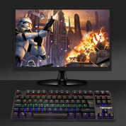 TeckNet X705 LED Illuminated Gaming Keyboard - геймърска клавиатура с LED подсветка (за PC) 3