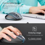 TeckNet M022 Black 2.4G Wireless Mouse - ергономична безжична мишка (за Mac и PC) 4