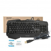 TeckNet X704 Gryphon LED Illuminated Gaming Keyboard - геймърска клавиатура с LED подсветка (за PC) 3