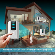 TeckNet WA838 Plug-In Wireless Doorbell - комплект 2 броя иновативни безжични звънци и предавател за входна врата (бял) 2