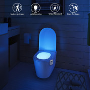 TeckNet Portable Motion Activated LED11 Toilet Night Light - LED светлина със сензор за движение за банята и тоалетната 4