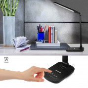 TeckNet LED12 15W EyeCare Dimmable LED Desk Lighting With Touch Control - настолна LED лампа със защита за очите, USB порт и нагласяща се основа 2