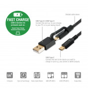 4smarts ComboCord 5A USB-A and USB-C to USB-C cable (black) 2