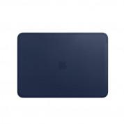 Apple Leather Sleeve - оригинален кожен калъф, тип джоб за MacBook Pro Touch Bar 13 (тъмносин)