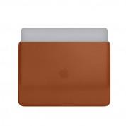Apple Leather Sleeve - оригинален кожен калъф, тип джоб за MacBook 13 (кафяв) 2