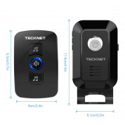 TeckNet WA668 Two Mains Plug-In Wireless Doorbell - безжичен звънец за входна врата (черен) 2