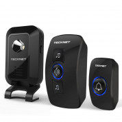 TeckNet WA668 Two Mains Plug-In Wireless Doorbell (black)