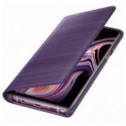 Samsung LED View Cover EF-NN960PVEGWW - оригинален кожен калъф през който виждате информация от дисплея за Samsung Galaxy Note 9 (лилав)
