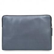 Knomo Laptop Leather Embossed Sleeve 13 - луксозен кожен калъф с цип за преносими компютри до 13 инча (сребрист) 4