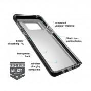 Bodyguardz Ace Pro - удароустойчив силиконов кейс за Samsung Galaxy Note 9 (черен-прозрачен) 1