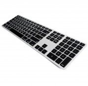 Matias Backlit Wireless Aluminum Keyboard with Numeric Keypad (silver-black)