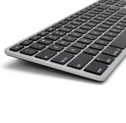 Matias Backlit Wireless Aluminum Keyboard with Numeric Keypad - качествена алуминиева безжична клавиатура с подсветка (тъмносив)  1