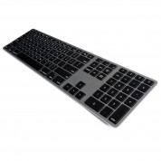 Matias Backlit Wireless Aluminum Keyboard with Numeric Keypad (space gray)