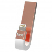 Leef iBRIDGE 3 Mobile Memory 128GB - външна памет за iPhone, iPad, iPod с Lightning (128GB) (златист)