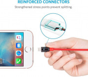 Anker Powerline+ Nylon Lightning cable 1.8m - сертифициран Lightning кабел за iPhone, iPad и iPod с Lightning (1.8 м) (червен) 3