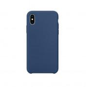 SDesign Silicone Original Case for iPhone XS, iPhone X (cobalt)