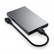 Satechi USB-C HDD/SSD Aluminum Enclosure - външна кутия с USB-C за 2.5 инчови HDD/SSD дискове (тъмносив) 1