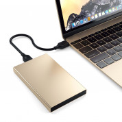Satechi USB-C HDD/SSD Aluminum Enclosure (gold) 2