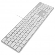 Macally Slim USB Keyboard 104 Key Full-Size - USB клавиатура оптимизирана за MacBook (бял)  1