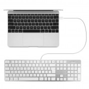 Macally Slim USB Keyboard 104 Key Full-Size - USB клавиатура оптимизирана за MacBook (бял)  3