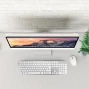 Macally Slim USB Keyboard 104 Key Full-Size - USB клавиатура оптимизирана за MacBook (бял)  4