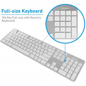 Macally Slim USB Keyboard 104 Key Full-Size - USB клавиатура оптимизирана за MacBook (бял)  8