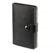 4smarts LAVAVIK Anti-RFID Wallet with Buckle - кожен портфейл с RFID защита (черен)