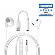 4smarts In-Ear Stereo Headset Melody USB-C Audio Cable - слушалки с USB-C кабел, управление на звука и микрофон за мобилни устройства (бял)