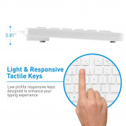 Macally 104 Key Full Size USB Keyboard with Two USB 2.0 Ports for Mac and PC (white) 2