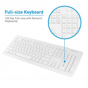 Macally 104 Key Full Size USB Keyboard with Two USB 2.0 Ports - клавиатура с два USB порта за Mac и PC (бял)  1