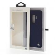 BMW Signature Silicone Hard Case - твърд силиконов кейс за Samsung Galaxy S9 Plus (тъмносин)