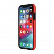 Incipio DualPro Case - удароустойчив хибриден кейс за iPhone XS Max (червен) 2