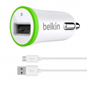 Belkin Micro Car Charge 2.4A with MicroUSB cable (white)