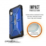 Urban Armor Gear Plasma - удароустойчив хибриден кейс за iPhone XR (син) 6
