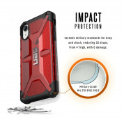 Urban Armor Gear Plasma - удароустойчив хибриден кейс за iPhone XR (червен) 5