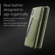 Mujjo Leather Wallet Case for iPhone XS Max (olive) 6
