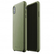 Mujjo Leather Case for iPhone XS Max (olive)