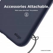 Elago Slim Fit Case - качествен поликарбонатов кейс за iPhone XR (тъмносин) 7