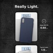 Elago Slim Fit Case - качествен поликарбонатов кейс за iPhone XR (тъмносин) 2