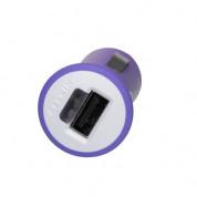 Belkin Mixit Car Charger USB 2.1A - зарядно за кола с USB изход за смартфони, таблети и мобилни устройства (лилав) (bulk)