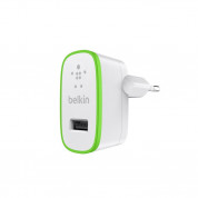 Belkin Universal USB Home Charger 2.1A with MicroUSB cable - захранване с USB изход 2.1А и MicroUSB кабел (бял) 1