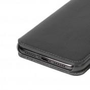 Krusell Pixbo 4 Card Slim Wallet Case - кожен калъф, тип портфейл за iPhone XR (черен) 4