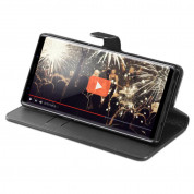 Spigen Wallet S Case - кожен калъф, тип портфейл и поставка за Samsung Galaxy Note 9 (черен) 4