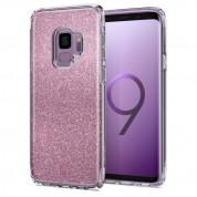 Spigen Slim Armor Glitter Case - хибриден кейс с най-висока степен на защита за Samsung Galaxy S9 (розов)